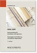 HOAI 2009, Honorarordnung für Architekten und Ingeniere