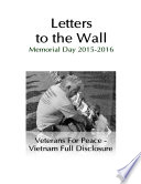 Letters to the Wall  Memorial Day Events 2015 and 2016
