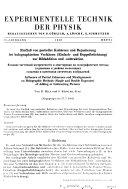 Experimentelle Technik der Physik