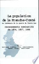 La Population de la Franche comte Recensements Nominatifs