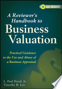 A Reviewer s Handbook to Business Valuation