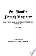 St  Paul s Parish Register