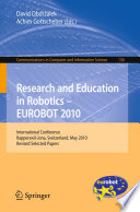 Research and Education in Robotics   EUROBOT 2010