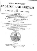 Royal Dictionary, English and French, and French and English