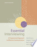 Essential Interviewing A Programmed Approach To Effective Communication