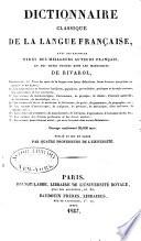 Dictionnaire classique de la langue française