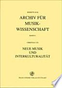 Neue Musik und Interkulturalität