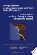 Equipment for analytic photogrammetry and remote sensing