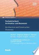 Fachw Rterbuch Architektur Und Bauwesen
