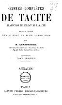 Oeuvres complètes de Tacite