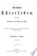 Brehms thierleben, allgemeine Kunde des thierreichs