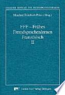 Fr  hes Fremdsprachenlernen Franz  sisch