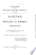 Goethe in England and America