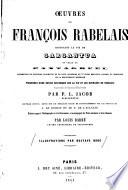 Oeuvres de François Rabelais contenant La vie de Gargantua et celle de Pantagruel0
