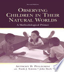 Observing Children In Their Natural Worlds book