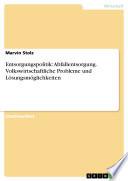Entsorgungspolitik: Abfallentsorgung. Volkswirtschaftliche Probleme und Lösungsmöglichkeiten
