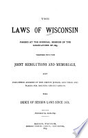 Laws of Wisconsin, 1895
