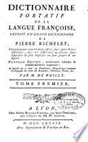 Dictionnaire portatif de la langue fran  oise