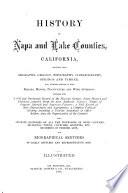 History of Napa and Lake Counties  California