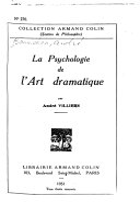 illustration du livre La psychologie de l'art dramatique