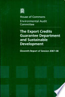 The Export Credits Guarantee Department and Sustainable Development