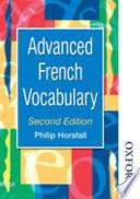 illustration du livre Advanced French Vocabulary