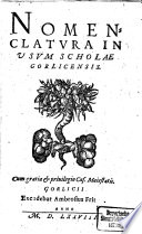Nomenclatura In Usum Scholae Gorlicensis