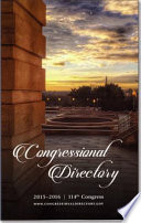 Official Congressional Directory 114th Congress  2015 2016  Convened January 2015