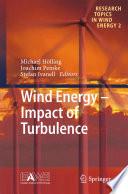 Wind Energy   Impact of Turbulence