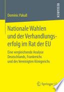 Nationale Wahlen und der Verhandlungserfolg im Rat der EU
