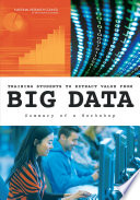training students to extract value from big data