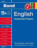 Bond English Assessment Papers 10 11  Years
