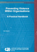 Preventing Violence Within Organisations