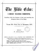 the bible ehmo vol.111 July- sep. 1875