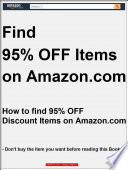 How to find 95% OFF Discount Items on Amazon.com