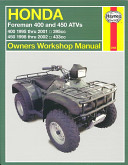 Honda Foreman 400 And 450 Atvs