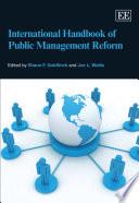 International Handbook of Public Management Reform