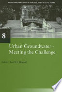 Urban Groundwater  Meeting the Challenge