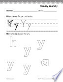 Pre Kindergarten Foundational Phonics Skills  Primary Sound y
