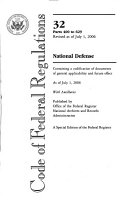 Code of Federal Regulations  Title 32  National Defense  Pt  400 629  Revised as of July 1  2006