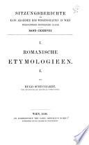 Romanische Etymologien