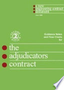 Guidance Notes And Flow Charts For The Adjudicator S Contract