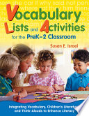 Vocabulary Lists and Activities for the PreK 2 Classroom