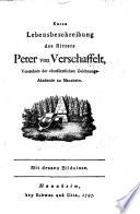 Kurze Lebensbeschreibung des Ritters Peter von Verschaffelt, Vorstehers der churfürstlichen Zeichnungs-Akademie zu Mannheim