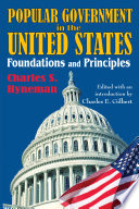Popular Government in the United States Book PDF