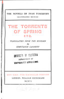 The Torrents of Spring, Etc