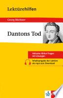 Lekt  rehilfen Georg B  chner  Dantons tod