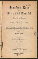 Jungfrau Rose und Die zwölf Apostel im Rathskeller zu Bremen