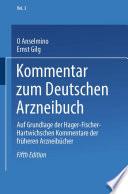 Kommentar zum Deutschen Arzneibuch