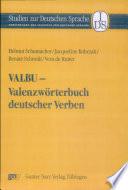 Valbu Valenzw Rterbuch Deutscher Verben